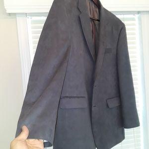Chaps Suede gray blazer